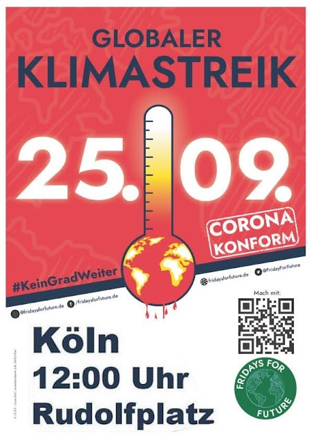 Fridays-for-Future-Aufruf zum Globalen Klimastreik am 25.09.2020 in Köln