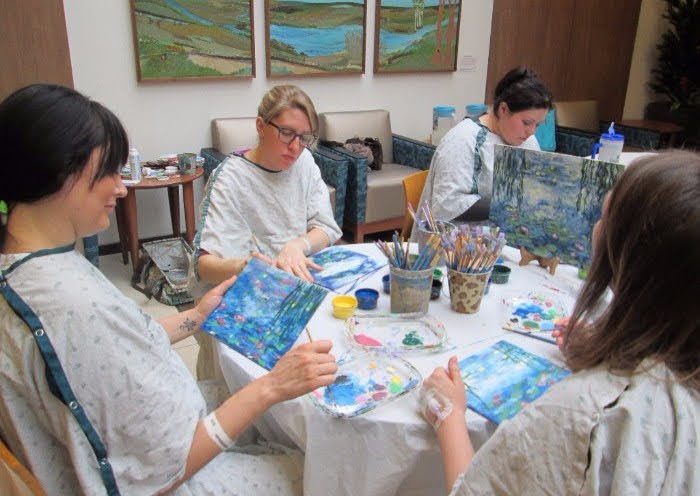 Women Painting in Hospital