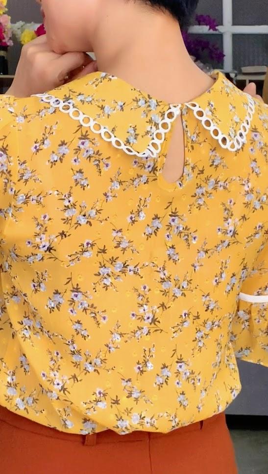 Mix đồ áo sơ mi với chân váy xòe midi V734 thời trang thủy hải phòng 9