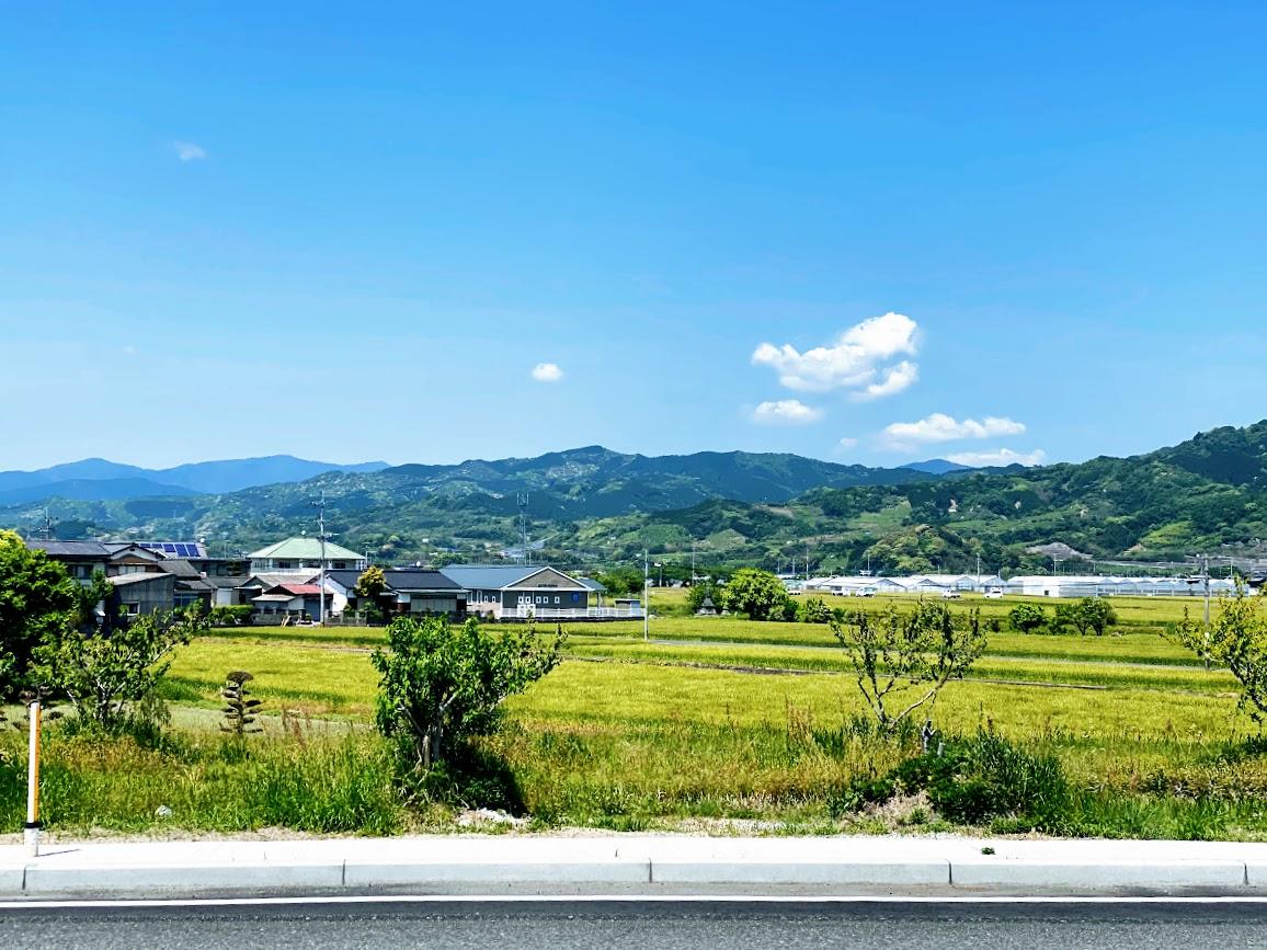 福岡県うきは市役所前からの風景