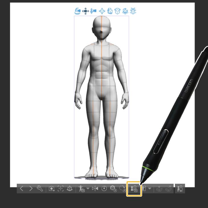 クリスタ3Dデッサン人形の素材登録アイイコン