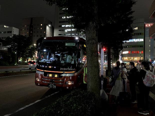 JX361便 仙台駅東口到着