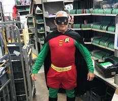 Watch out for the fancy dress Posties today