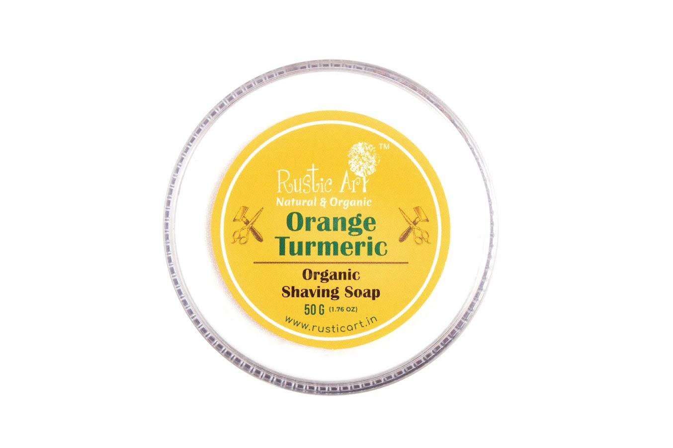 Rustic Art Orange Turmeric Shaving Soap