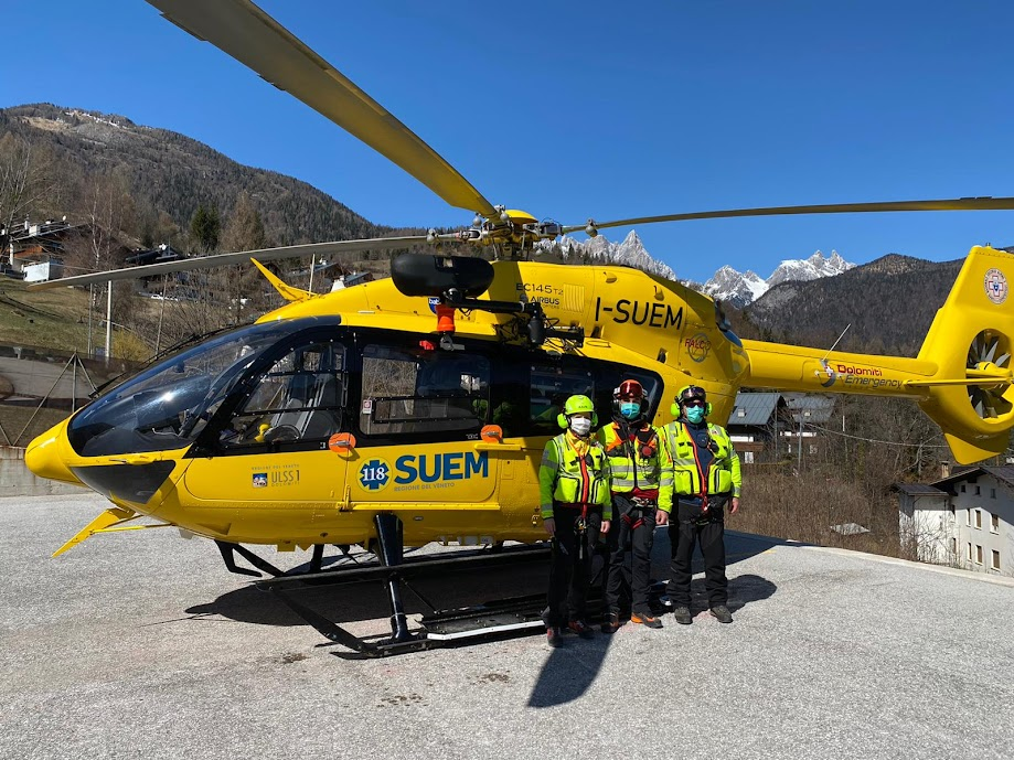 Elecottero Falco HEMS Pieve di Cadore ULSS Dolomiti