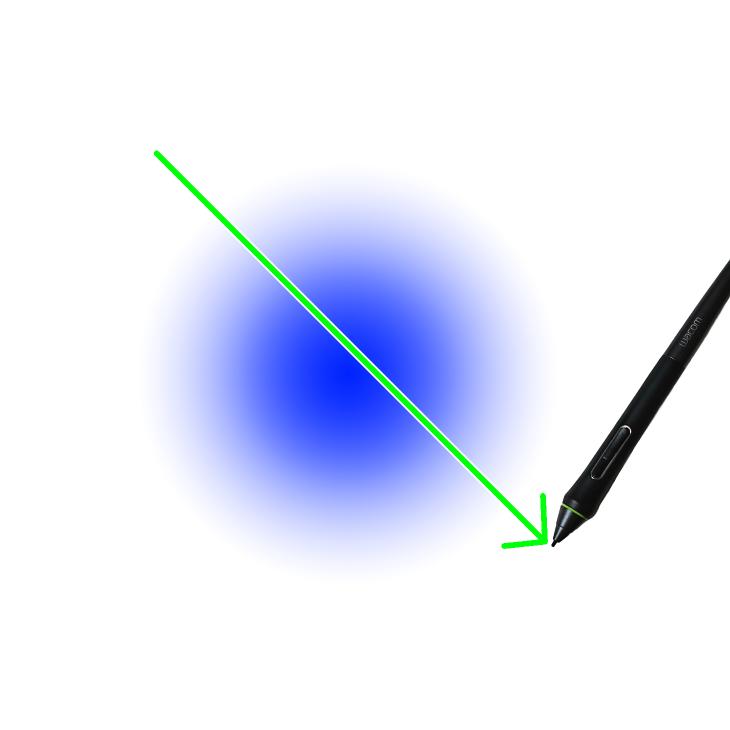 クリスタで円形グラデーションを描画