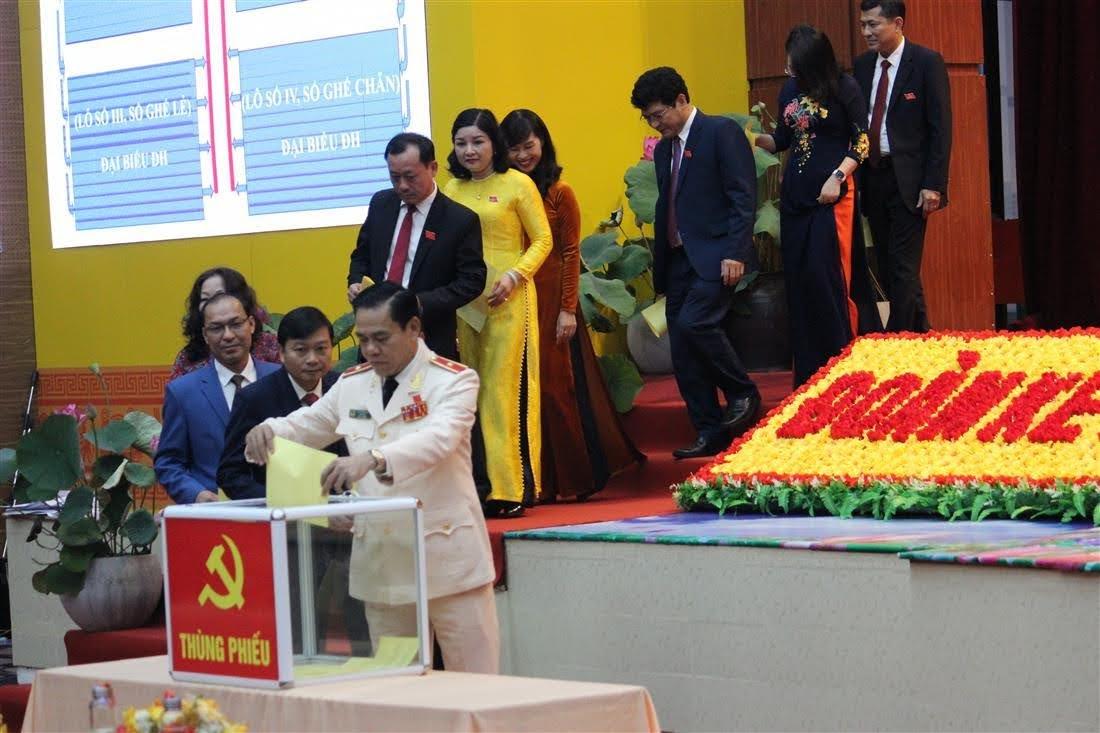 Đại hội tiến hành bầu Ban chấp hành Đảng bộ tỉnh nhiệm kỳ 2020 - 2025