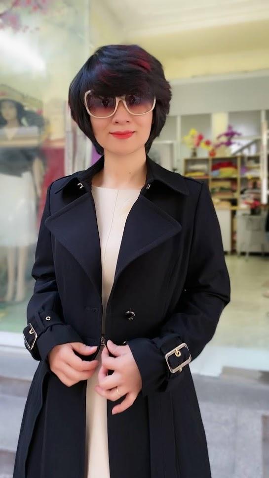Áo khoác măng tô nữ dáng dài mùa thu đông V747 thời trang thủy đà nẵng