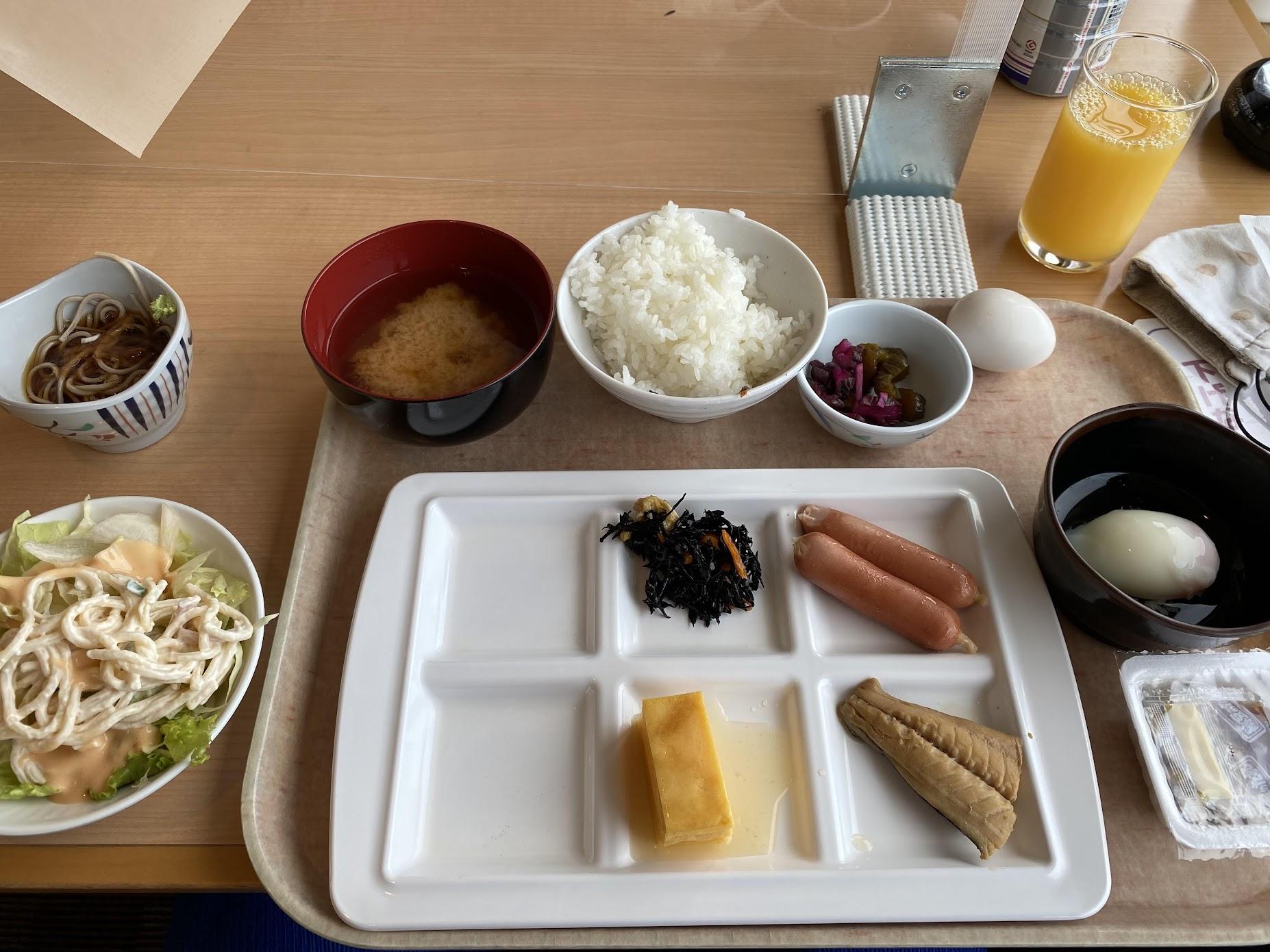 信州健康ランド朝食