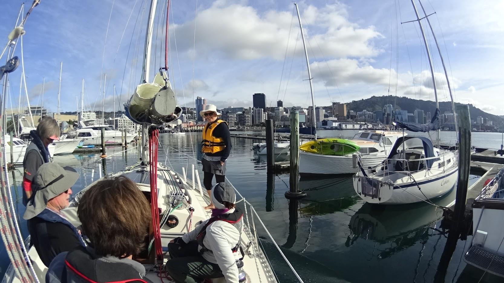 Leaving Chaffers Marina