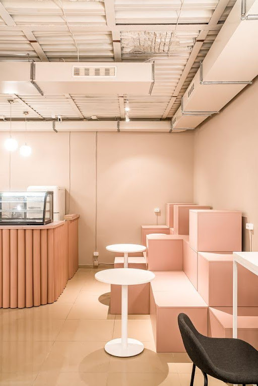 thiết kế cửa hàng cafe hoa
