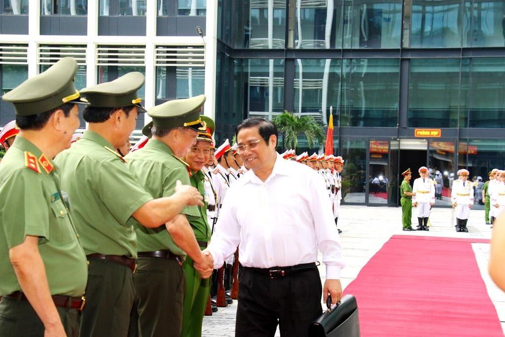 Đồng chí Phạm Minh Chính, Ủy viên Bộ Chính trị, Bí thư Trung ương Đảng, Trưởng Ban Tổ chức Trung ương dự Hội nghị.