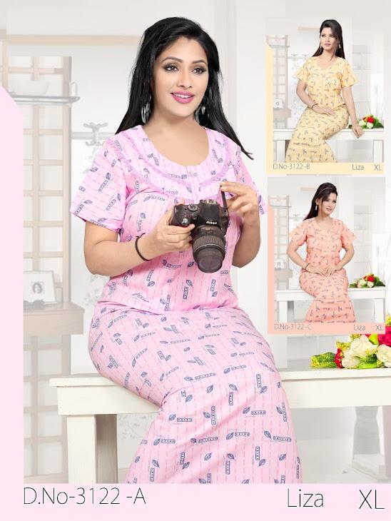 Liza 3122 Kavyansika Designer Nighty Manufacturer Wholesaler