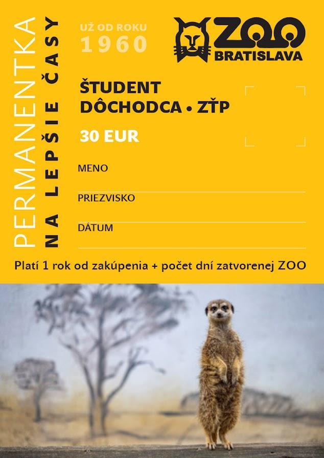 ŠTUDENT, DÔCHODCA, ZŤP