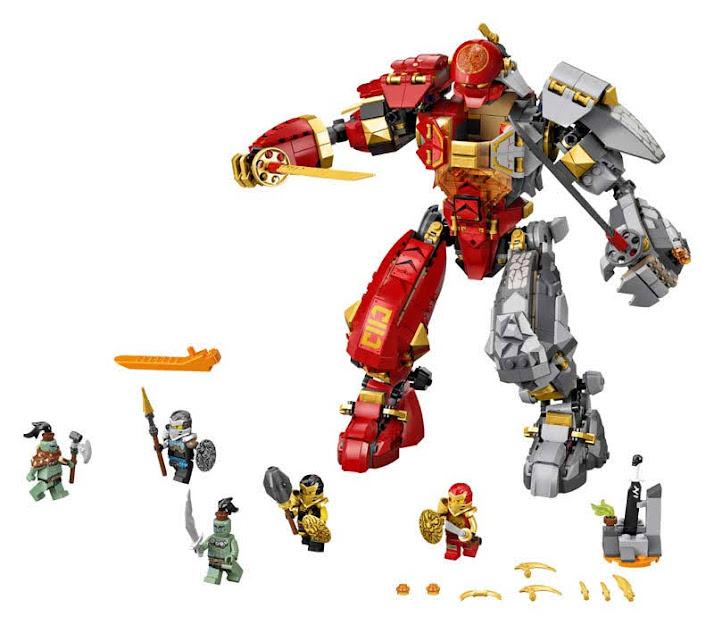 Contenido de Lego® 71720 Robot Rocollameante