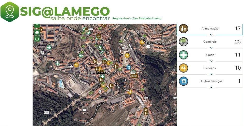 SIG@LAMEGO disponibiliza informação sobre comércio de rua