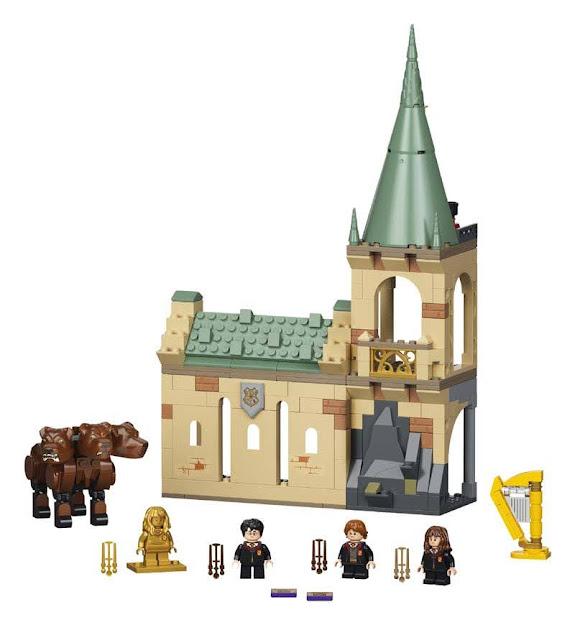 Contenido de LEGO® 76387 Hogwarts™: Encuentro con Fluffy