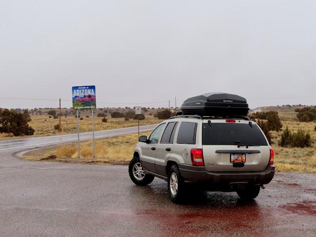 Entering Arizona on US-64
