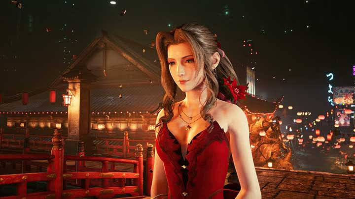Aerith Gainsborough trong FF7 Remake