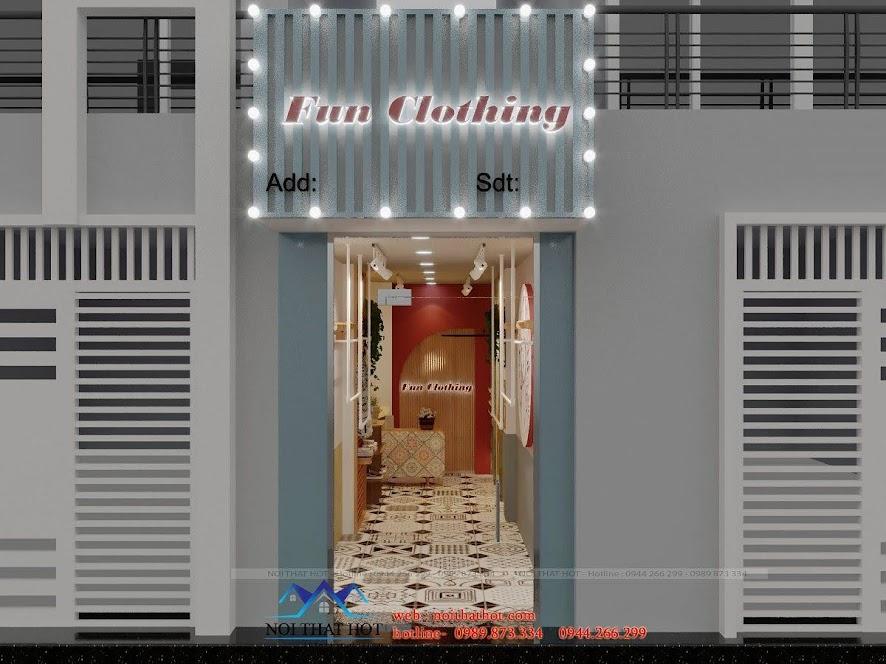 thiết kế shop thời trang 10m2