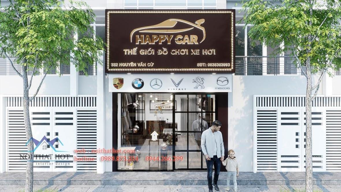thiết kế cửa hàng đồ chơi xe hơi