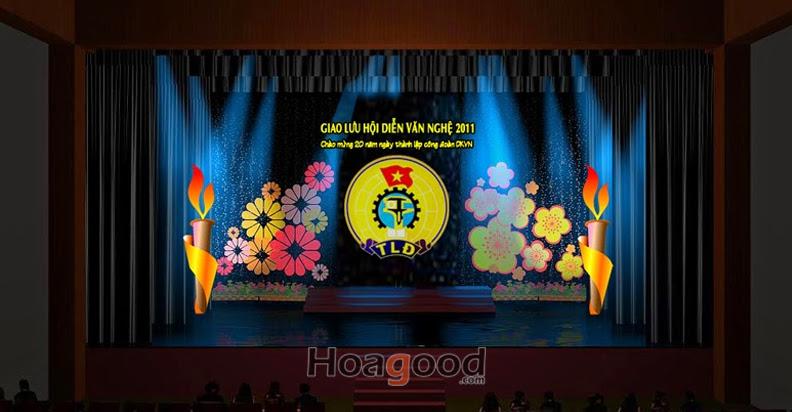 Maket thiết kế sân khấu giao lưu hội diễn văn nghệ
