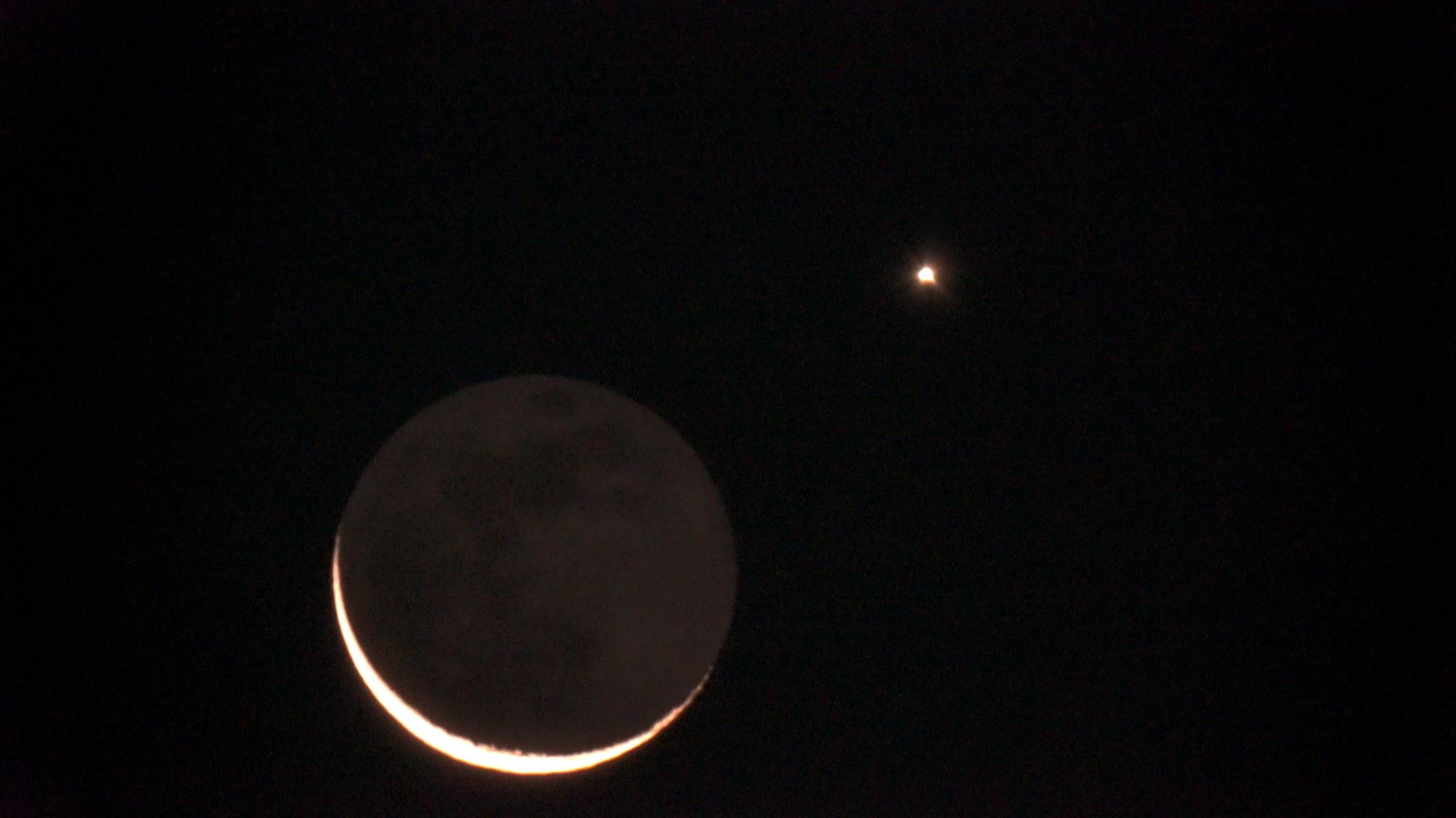 幻想的な月と金星