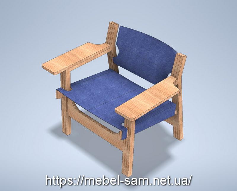 Кресло из фанеры с контурами деталей