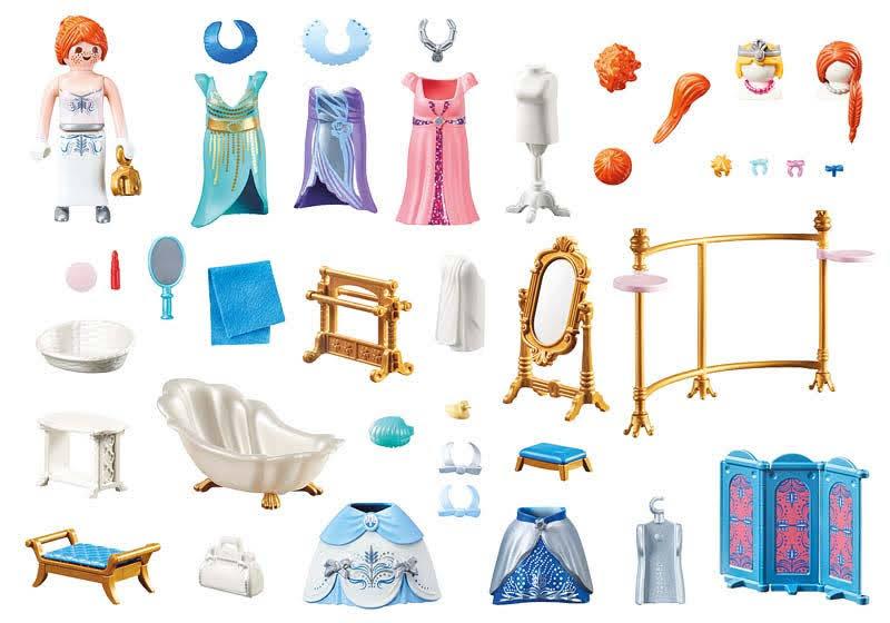 Contenido real de Playmobil® 70454 Vestidor con Bañera