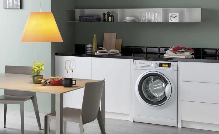 không nên đặt máy giặt trong phòng bếp