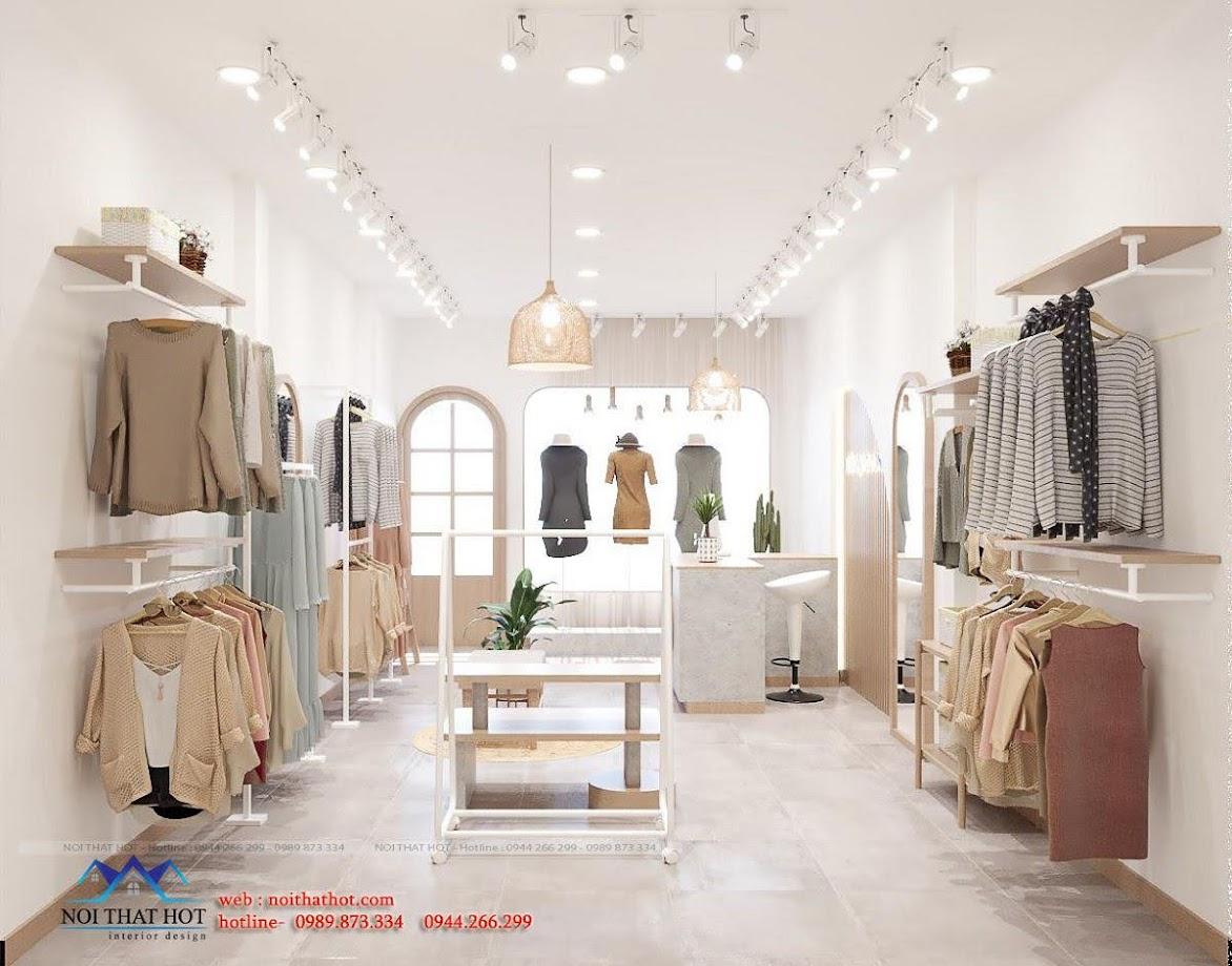 Bài trí nội thất shop quần áo