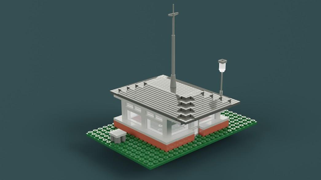 Estación meteorógica con el farol encendido