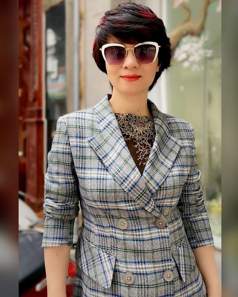Áo khoác dạ nữ dáng dài kẻ caro mix quần ống suông V742 thời trang thủy sài gòn