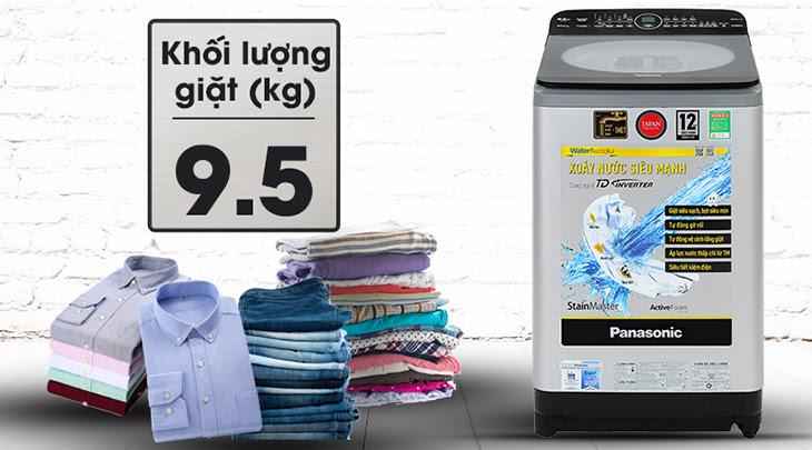 Máy giặt Panasonic Inverter FD95X1 có khối lượng giặt 9.5 kg