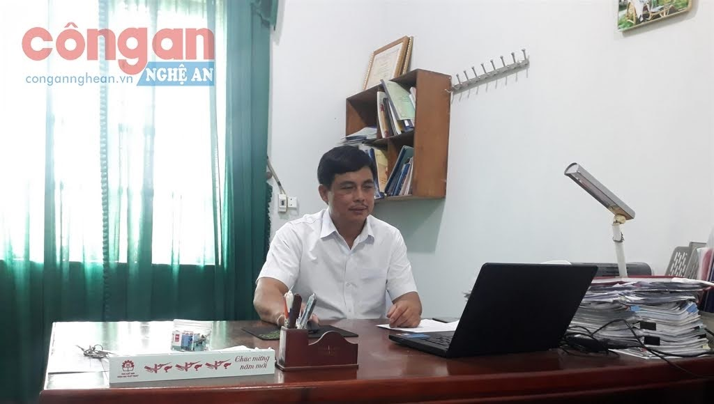 Đồng chí Bùi Sỹ Cường,                                     Chủ tịch UBND xã Nghi Mỹ, huyện Nghi Lộc