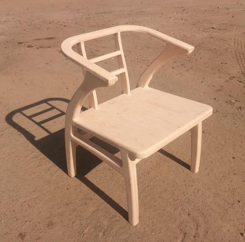 фанерные детали склеены - - кресло собрано
