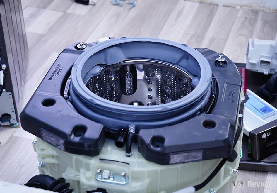 khối bê tông chống rung của LG AI DD FV1450S2B