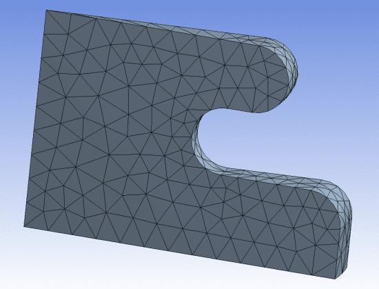 автоматическое перестроение сетки для трёхмерных моделей поддерживается только для тетраэдрической сетки (по состоянию на версию 2020 R1)