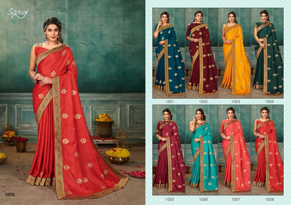 Saroj Nakashi Sarees Catalog Lowest Price