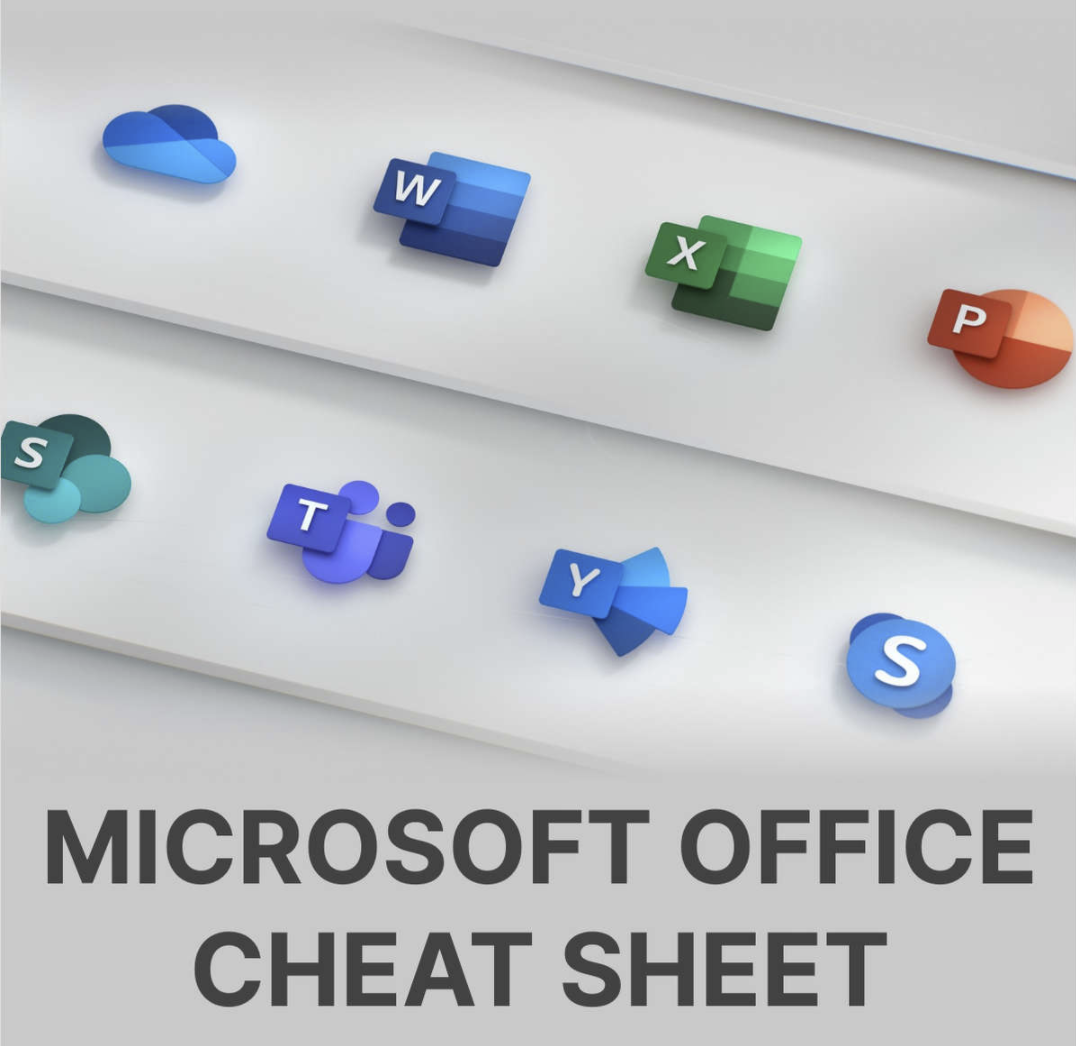 Microsoft Office Cheat Sheet to Become a Microsoft Office Power User