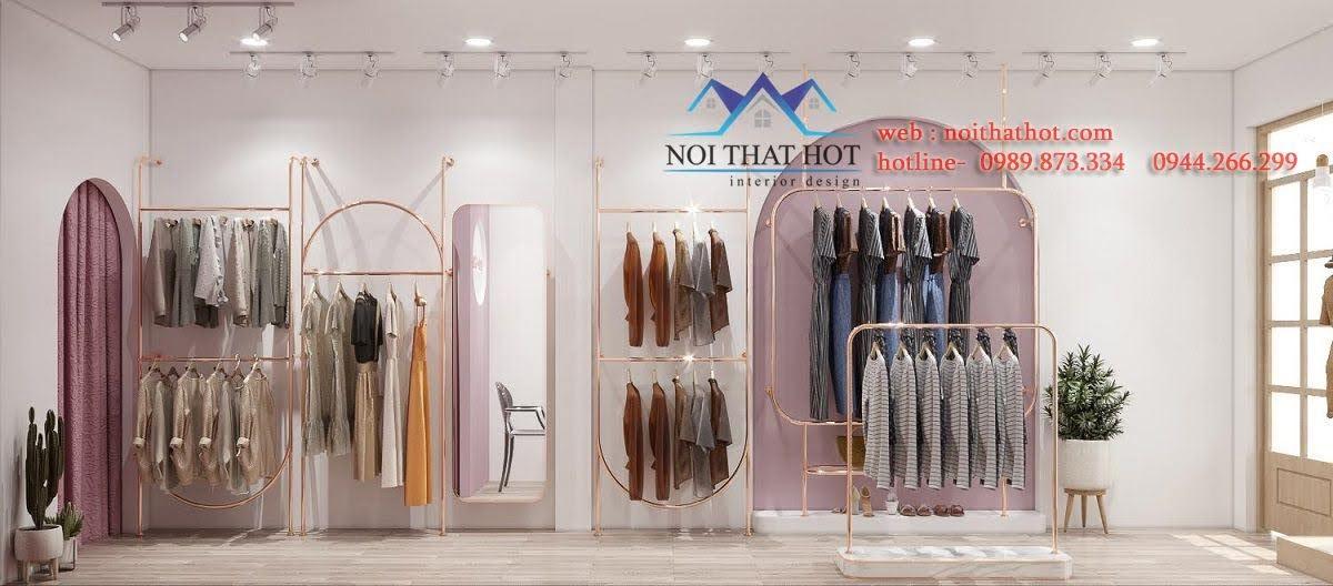 thiết kế nội thất shop thời trang 20m2