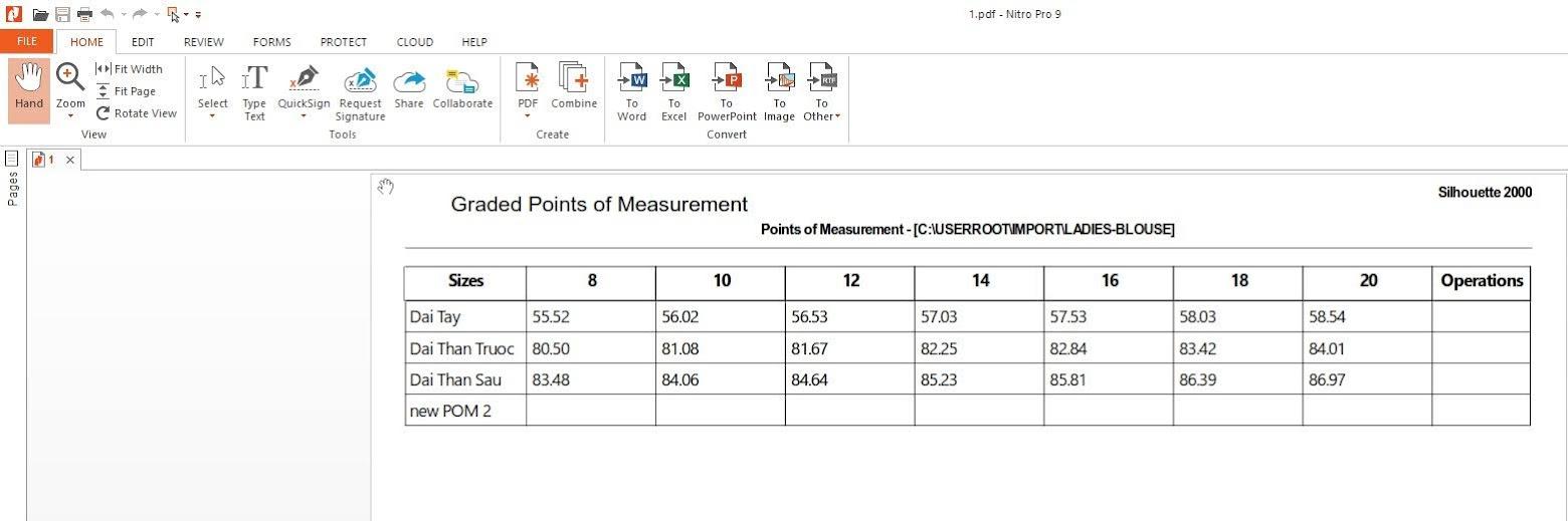 Gerber Pattern Design Point of Measurement: Cách Tạo Bảng Đo Thông Số 13