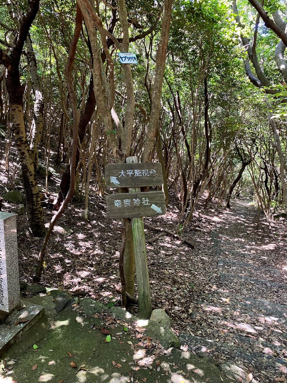 竜宮神社標識