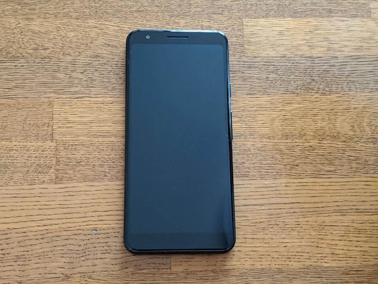 pixel3aブラックの画像