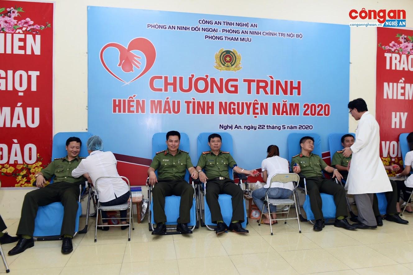 Chương trình hiến máu tình nguyện được thực hiện trong toàn lực lượng Công an Nghệ An