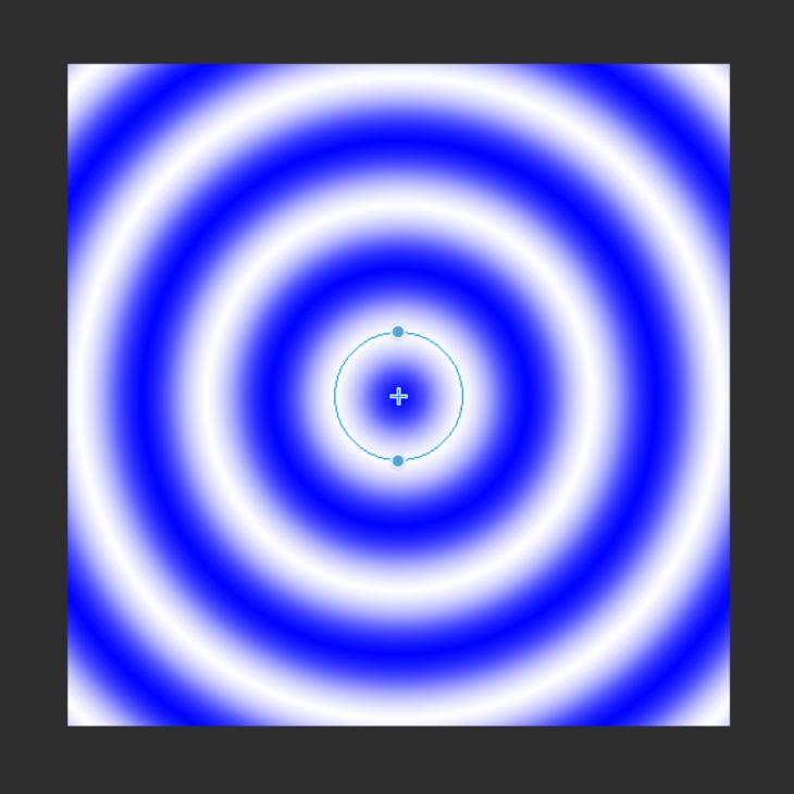 クリスタのグラデーション(折り返し+円形)