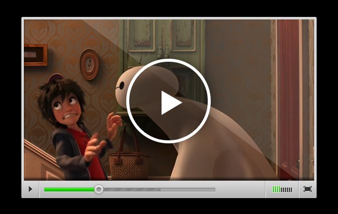 Трейлер к мультфильму «Город героев», в котором Хиро модифицирует робота Бэймакса, чтобы поймать суперзлодея, укравшего его технологию микроботов