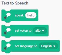 Scratch 3.0: Nhóm lệnh Text to Speech