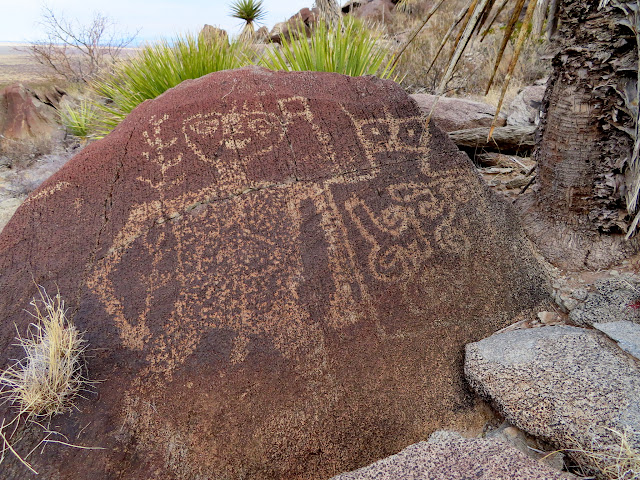 One of my favorite petroglyphs at Alamo Mountain
