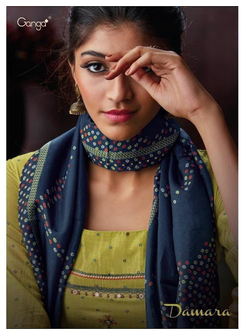Buy Ganga Damara Palazzo Ladies Suits Catalog Online Wholesa